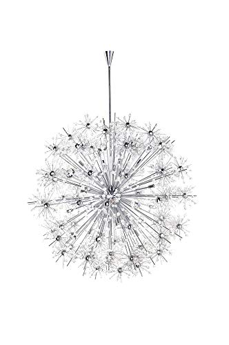 Maxim 39747BCPC Starfire 40-Light Chandelier, Polished Chrome Finish, Beveled Crystal Glass, G9 Xenon Xenon Bulb , 100W Max., Wet Safety Rating, Standard Dimmable, Glass Shade Material, 1150 Rated Lumens ()
