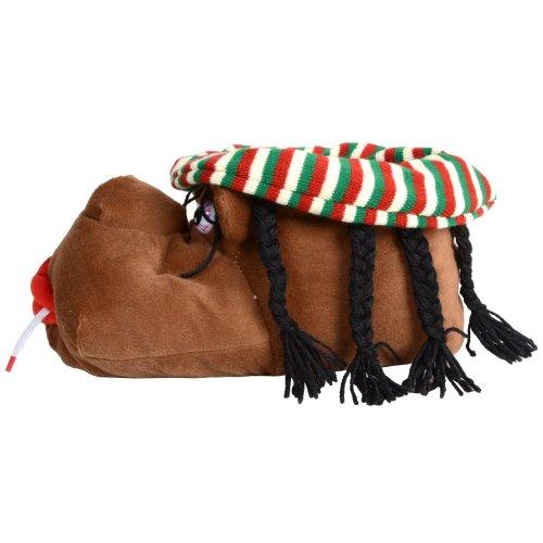 Herren Pantoffeln Rastafari-Motiv mit Profilsohle