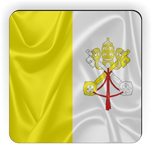 Rikki Knight Holy See Flag Design Square Fridge Magnet by Rikki Knight