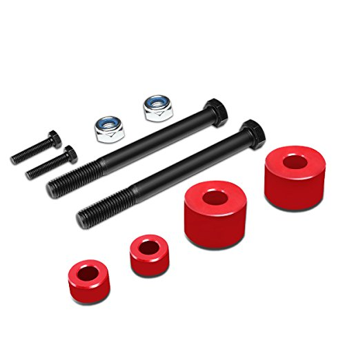 DNA Motoring DDK-TY-002-RD Red Front Differential+Skid Plate Drop Spacer[05-17 Toyota Tacoma] (Toyota Differential Front)