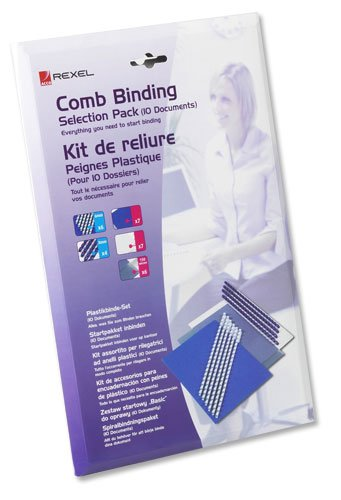 GBC Comb Binding Selection Pack 15-Document 8mm 6mm - Binding Combs Assorted