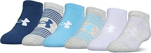 Under Armour Girls Essential Mixed Twist No-Show (6-Pack)