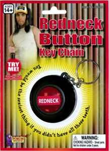 [Forum Novelties 63933 Red Neck Button Keychain] (Fandom Halloween Costumes)