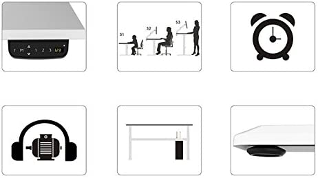 Cadre avec Une T/él/écommande Smart pour M/émoire Travail /à Domicile FLEXISPOT E1 Bureau /Électrique R/églable en Hauteur /à 2 /Étages avec Plateau Cadre Noir+Plateau 120cm Acajou