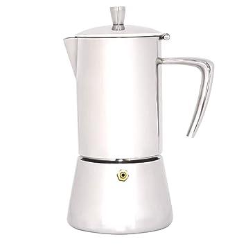 LARRY SHELL Estufa Espresso cafetera cafetera Espresso Italiano máquina de café Espresso de Acero Inoxidable para café expreso de Cuerpo Completo Pot para ...