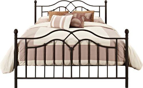 DHP Tokyo Metal Bed, Classic Design, Includes Metal Slats, Full, Bronze