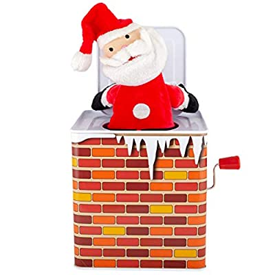 Kids' Preferred Jack in The Box Santa Claus Christmas Toy: Toys & Games