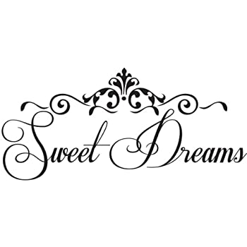 amazon com sweet dreams wall quote wall decals wall decal wall