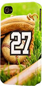 Baseball Sports Fan Player Number 27 Plastic Snap On Decorative iPhone 5/5s Case