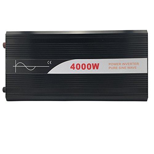Xijia 4000W (Peak 8000W) Pure Sine Wave power Inverter DC 12V 24V 48V to AC 120V 60HZ Solar converter For Home Use car (DC 48V to AC 120V)