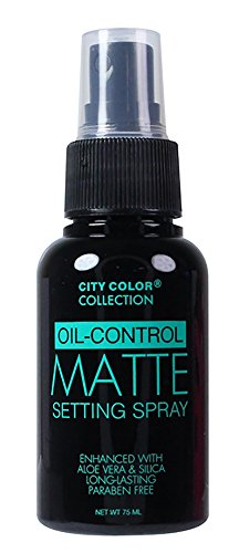 City Color Oil Control Face Matte Setting Spray, Fresh Rose Scent, 2.54 Fluid Ounce (Spray Face Foundation compare prices)