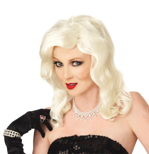 Glamour Costumes For Kids (California Costumes Glamour Girl Wig, Platinum Blonde, One Size)