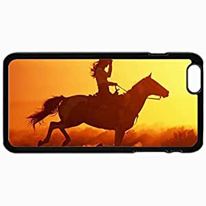 Customized Cellphone Case Back Cover For iPhone 6 Plus, Protective Hardshell Case Personalized Cowgirl Black