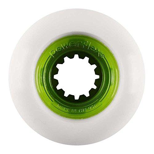 報奨金無駄に病気のPOWERFLEX (パワーフレックス) ROCK CANDY CLEAR CORE GREEN 58mm スケートボード ハードウィール