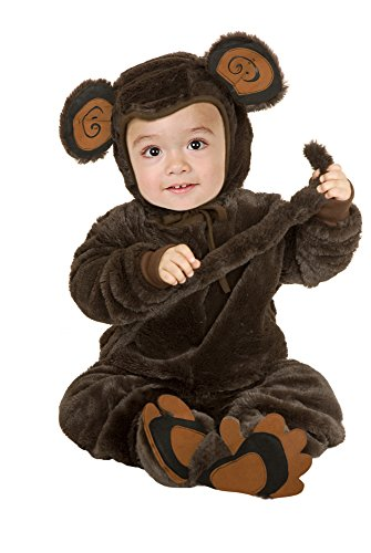 Charades Unisex-Adult's Micro Fiber Plush Monkey, Brown, X-Small -