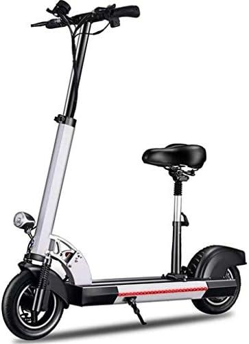 電動折り畳み式バイク自転車10インチのビッグホイール折りたたみキックスクーター小型電動自転車生徒アダルトライドEスクーター2ホイール500W