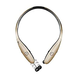 LG Electronics Tone Infinim HBS-900 Bluetooth Wireless Stereo Headset- Retail Packaging - Gold