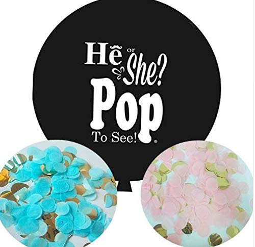 The Stork Bag 36'' Gender Reveal Confetti Balloon - Pink
