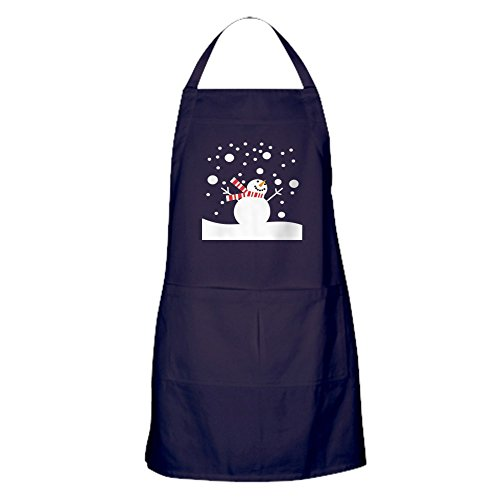 CafePress Holiday Snowman Kitchen Apron with Pockets,
