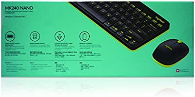 d5ecf2a0960 Logitech MK240 NANO Mouse and Keyboard Combo Black Color. Loading Images.