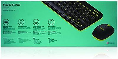 11e74a0ec05 Logitech MK240 NANO Mouse and Keyboard Combo Black Color. Loading Images.