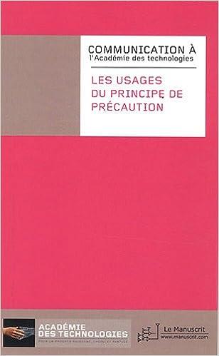Livre Les usages du principe de précaution epub, pdf