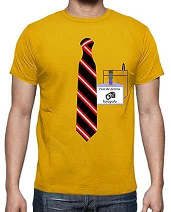 latostadora - Camiseta Fotógrafo con Corbata para Hombre: impropio ...