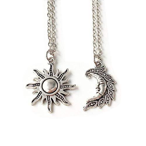 Sun and Moon Set,set of 2 ,Best Friends,sun and Moon Necklace Set,friendship, Wiccan,sun and Moon -