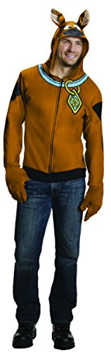 Fred Velma Halloween And Costumes (Rubie's Costume Co Men's Scooby Doo Hoodie, Brown,)