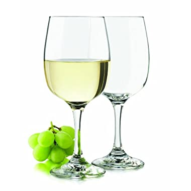 Libbey 4-Piece Tranquil All-Purpose Wine Glasses, 16-Ounce, Clear