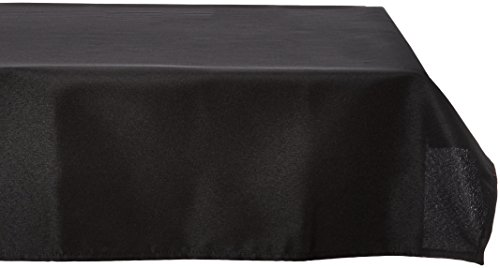 Square Polyester Tablecloth (LinenTablecloth 70-Inch Square Polyester Tablecloth Black)