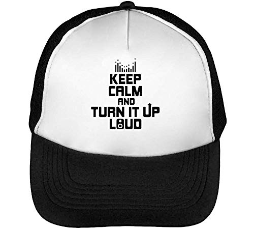 It Snapback Blanco Calm Up Keep Negro Hombre Turn Beisbol Gorras Pvan7q