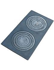 QLS kookplaat met 2 kookplaten dubbele dubbele van gietijzeren herdplaat kookplaat 62 x 32 cm
