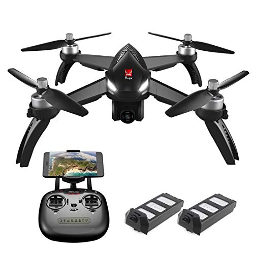 MJX B5W Bugs 5W GPS RC Drone with 1080p HD Camera 5G WiFi FPV Live Video Quadcopter with Brushless Motor, Follow Me, Altitude Hold, Long Control Distance, Waypoints Fly, 2 Batteries, Black