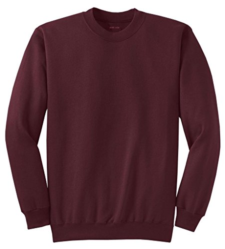 Joe's USA - Classic Crewneck Sweatshirt in 28 Colors in Sizes S-4XL Maroon
