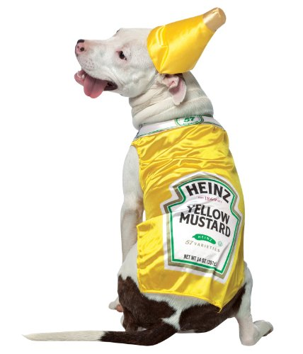 PET COSTUME HEINZ MUSTARD - Heinz Dog Costume