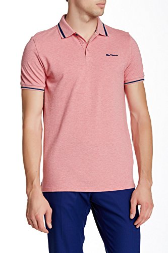 ben-sherman-mens-contrast-tipped-pique-polo-shirt-xx-large-strawberry-marl