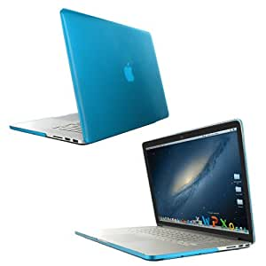 Skque Transparente tapa azul dura de plástico para Apple MacBook Pro 15 pulgadas retina display 0,71 inch