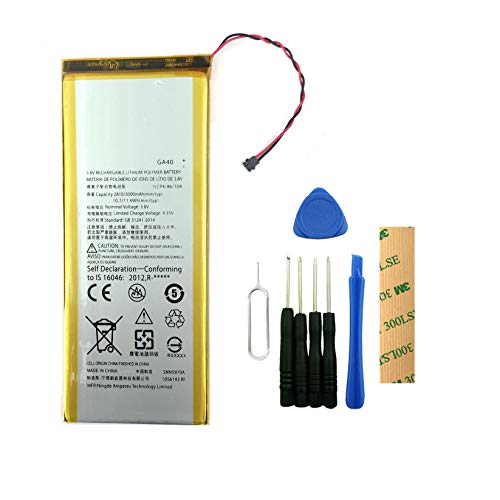 for Motorola Moto G Plus(4th Gen) XT1644 Replacement Battery GA40 (SNN5970A) Free Adhesive Tool -  DDONG, HB00116-TOOL-01