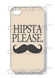 CASE CARTEL Apple iPhone 4 4G 4S Hipsta Please Hipster Retro Vintage by Case Cartel WHITE Sides Slim HARD Case Skin Cover Protector Accessory Vintage Retro Unique AT&T Sprint Verizon Virgin Mobile