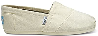 TOMS 001001B07-LTBGE: Natural Canvas Classic Women's Slip-on Shoes Light Beige