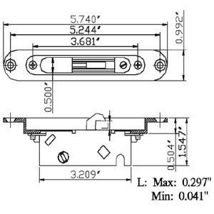 Patio Sliding/Gliding Door Mortise Lock PM500C
