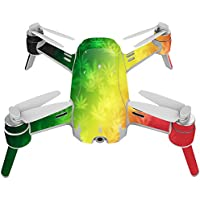 Skin For Yuneec Breeze 4K Drone – Rasta Rainbow | MightySkins Protective, Durable, and Unique Vinyl Decal wrap cover | Easy To Apply, Remove, and Change Styles | Made in the USA