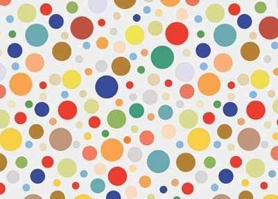 Multi Coloured Dots PVC Vinyl Wipe Clean Tablecloth Oilcloths -ALL SHAPES (Round, Square, Rectangle) ALL SIZES from 50cm to 20m Roll Available (Design Sample - 20cm x 20cm)