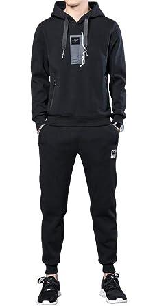 0a2abefc83 Nanquan Men Active Pullover 2 PCS Outfits Sport Sweatsuit Hooded ...
