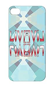 LIVE Word Symbols Text Live Art Shapes Four Inspire Abstract Protective Hard Case For Iphone 5s Red