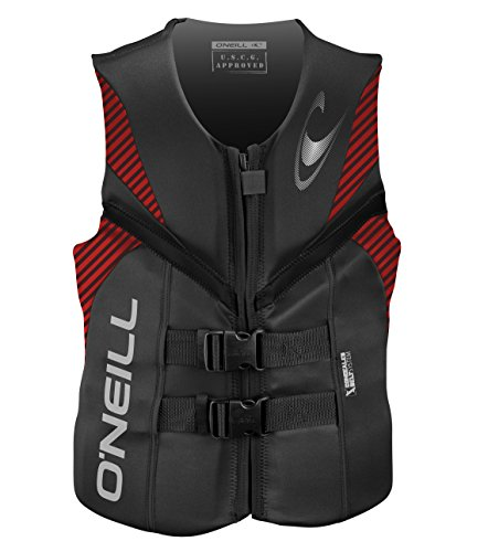 ,O'Neill  Men's Reactor USCG Life Vest, Graphite/Red/Black,Large