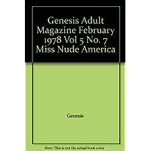 "Genesis Adult Magazine February 1978 Vol 5 No. 7 ""Miss Nude America"""