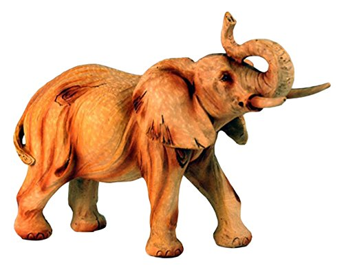 "StealStreet MME-930 6"" Elephant with Trunk Up Carving Fau..."