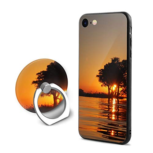 Fashion iPhone 8 Case iPhone 7 Case Calm Water Surface Overlooking Sun Setting Scratch Proof Shock Absorption Mobile Phone Shell 4.7-inch